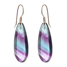 $395 Jamie Joseph flourite drop earrings  via Kristen Kelly via Greenwich Jewelers