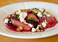 Roasted Beetroot and Grapefruit salad with Feta and Walnuts