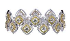 Crisscut® Cushion Bracelet by Lili Jewelry #beauty #love #diamonds #lilidiamonds #crisscut #jewelry #bracelet