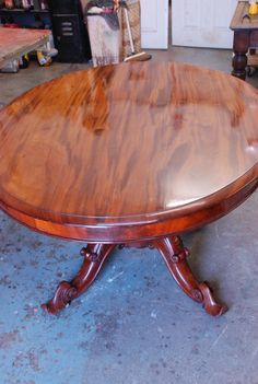 Repaired and re-polished   By Christy Antiques