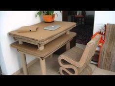 Mobiliario de Cartón Mediano - YouTube