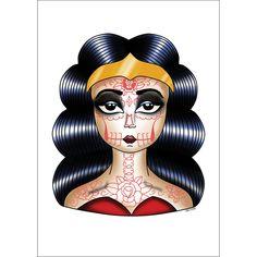 Woman of Wonders Sugar Skull A4 Print
