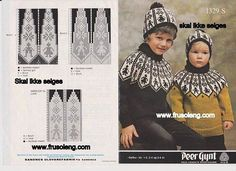 Bilde Fair Isle Knitting Patterns, Fair Isle Pattern, Knitting Charts, Knitting Stitches, Knitting Yarn, Baby Knitting, Knitting For Kids, Crochet For Kids, Intarsia Knitting