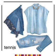 ¿Todo un outfit sólo con denim? Con @Tennis es posible. #SinRiesgoNoHayModa