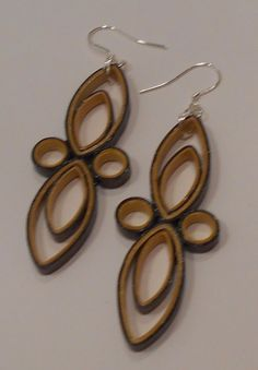 """Metallic gold and Purple Handcrafted Quilled Paper Earrings 2.75""""Drop Dangle  #Handmade #DropDangle"""