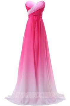 Pretty Pink Sweetheart Long Gradient Chiffon Prom Dresses,Elegant Prom Gowns http://www.luulla.com/product/599950/pretty-pink-sweetheart-long-gradiaent-chiffon-prom-dresses-elegant-prom-gowns