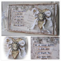 "Paperbag card by LLC DT Member Elin Torbergsen, using papers from Pion Design's ""Studio of Memories"" collection."