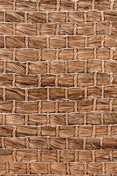 Cuyo handwoven abaca rug in Bark colorway, by Merida.