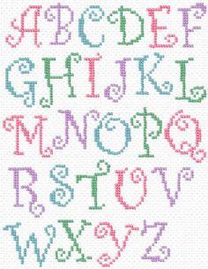 abecedarios punto de cruz listos para imprimir free words ads orqudeas ...