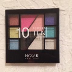 Perfect Ten Colors New & Sealed . NICKAK Palette Makeup Set Perfect 10 APO22 .Eyeshadow & Blush NICKAK Makeup Eyeshadow