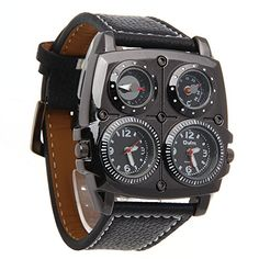 Dial dimension: x Dial thickness: Strap Coloration: BlackStrap Material: Leather-basedStrap size: Strap width: the compass Cheap Watches, Watches For Men, Discount Watches, Watch Deals, Amazing Watches, Quartz Watch, Compass, Leather, Accessories