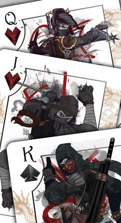 Feudal - Ninja and Samurai USPCC Bicycle® Playing Cards by Scott King — Kickstarter