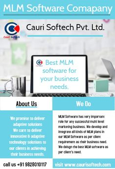 We as, Cauri Softech Pvt. care to understand the client's business plan and when the time of software development, our expert developers integrate all kinds of MLM plans in software as per the business need. Business Entrepreneur, Business Marketing, Mlm Plan, Multi Level Marketing, Software Development, Business Planning, Programming, Management, Success