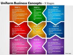 uniform business concepts 9 stages powerpoint templates graphics slides 0712 Slide01