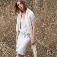 #cadoaccessories organic cotton dress & oversize shawl