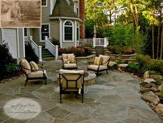 Stone Patio & Fire Pit - traditional - landscape - newark - Summerset Gardens/Joe Weuste