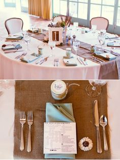 burlap table runner #burlap #table runner neat idea - get supplies from burlapfabric.com