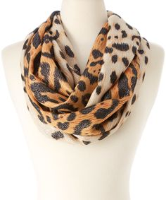 Loving this Betsey Johnson Brown Leopard Infinity Scarf on #zulily! #zulilyfinds