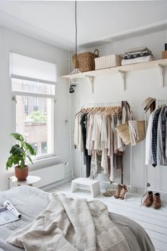 3 Thankful Clever Hacks: Minimalist Decor Apartments Woods minimalist bedroom curtains home.Minimalist Home Scandinavian Floors minimalist interior living room lamps.Minimalist Bedroom Organization Home. Dream Bedroom, Home Bedroom, Bedroom Wardrobe, Modern Bedroom, Stylish Bedroom, Bedroom Interiors, White Bedrooms, White Interiors, Minimal Bedroom