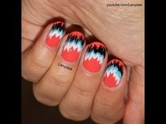 Nail Trends, Summer and Fall Trends, Fabric Nails, 5 Easy Patterns Get Nails, Love Nails, Pretty Nails, Hair And Nails, Fancy Nails, Nail Patterns, Pattern Nails, Aztec Nails, Chevron Nails