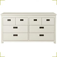 White Large Chest of Drawers