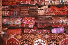 Traditional blankets in Aleppo Syria   Middle East