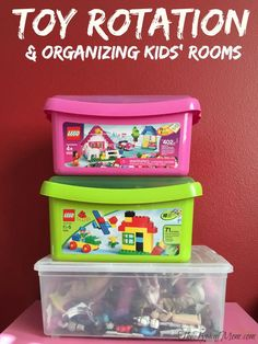 How to organize kids rooms and rotate toys a few times a year. Easy thing to do and a great way of organizing kids rooms so they appreciate what they have.