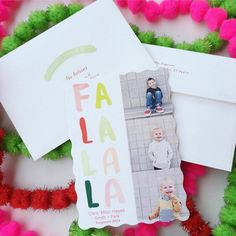 Send your loved ones a playful holiday cheer with a Christmas greeting card from Minted. Image courtesy of HappyConfetti