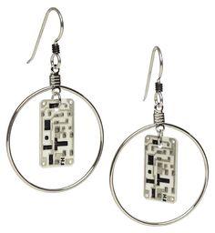 ThinkGeek :: Transistor Sister Circuit Earrings