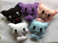 Felt Kawaii Kitty Plushie  Customization by RudeBoyClothing, $10.00