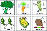 Garden Vegetable Cards to use with the preschool garden game activity