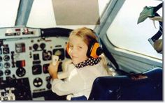 Lisa Marie Presley at the controls of her fathers airplane - The Lisa Marie