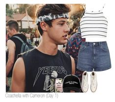 """""""Coachella with Cameron (Day 1)"""" by x5sosfam-1dx ❤ liked on Polyvore featuring Topshop, Converse, Manolo Blahnik, Ray-Ban, Casetify, coachella, 2016 and CameronDallas"""