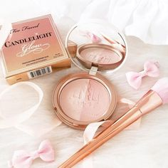 hh Too Faced Softly Illuminating Translucent Powder - Candlelight.  It's glow time! Our beautifully multi-tasking formula illuminates skin with the flattering glow of candlelight. Wear it alone for an instant boost of illumination, or with foundations to set your look. This pretty but smart formula does double-duty hiding fine lines and wrinkles while powerful antioxidants soothe, protect and prevent further damage.
