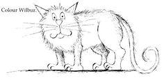 Winnie the Witch cat - wilbur Halloween Craft Activities, Halloween Crafts, Kid Crafts, Free Coloring Pages, Coloring Sheets, Winnie The Witch, Witch Cat, English Activities, Eric Carle