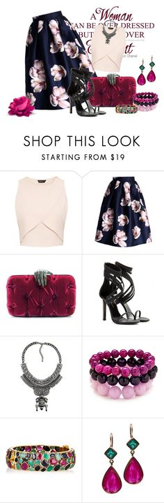 """Sem título #2606"" by mr-1 ❤ liked on Polyvore featuring Grace, Chicwish, Benedetta Bruzziches, Tamara Mellon and Jade Jagger"