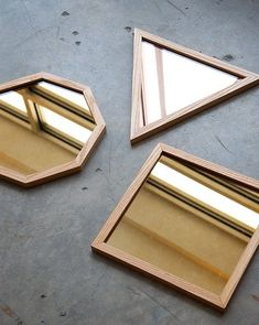 These rose gold hexagon trays from Caitlin Mociun are stunning. So modern and timeless at the same time
