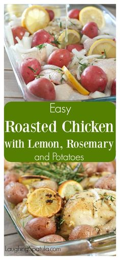 One pan easy! Delicious, flavorful and super easy Roast Chicken Dinner!
