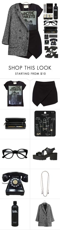"""THE DARK SIDE"" by emmas-fashion-diary ❤ liked on Polyvore featuring Forever New, Coach, Topshop, Retrò, Windsor Smith, Chan Luu, IKKS and Rich and Damned"