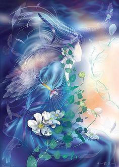 """Goddess of Fairies """"Aine de Knockaine"""" (Celtic) ~ Hand-painted illustrations Moe ☆ CG"""