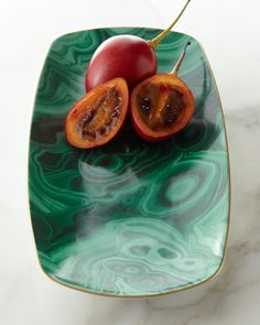 Medium Malachite Tray by L'Objet at Neiman Marcus