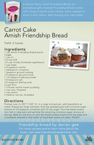 eCard for Amish Friendship Bread Carrot Cake