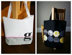eighteen25: Decorating bags with Silhouette fabric interfacing