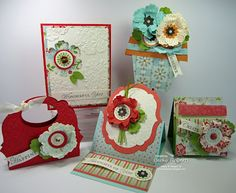 All made using the mixed bunch stamp set and punch from Stampin Up