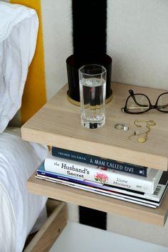 Space saving nightstand alternative