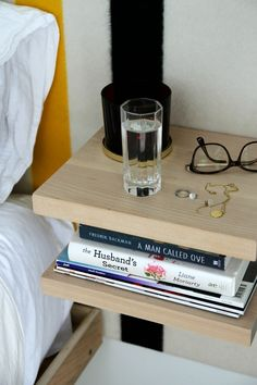 Space saving nightstand alternative