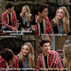 Girl Meets World (3x09)<<<They belong in each other's lives, but as a brother and sister type relationship. Maya and Lucas belong with each other. #Lucaya #EndGame