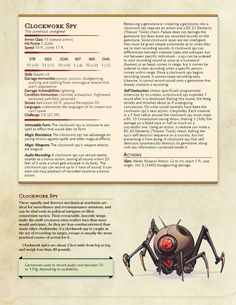 [5e][Monsters] Clockwork Golems Compendium - Imgur