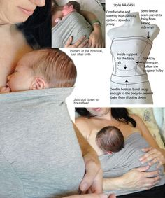 The skin-to-skin contact (kangaroo care) immediately after birth helps stabilize the temperature of newborn and promotes the initiation of breastfeeding. Wear it when you lay by 45 degrees in bed or sitting in a chair. Newborn Baby Care, Newborn Baby Photos, Kangaroo Care, Kangaroo Pouch, Baby Dust, Baby Kids, Baby Boy, Mommy Workout, Baby Care Tips