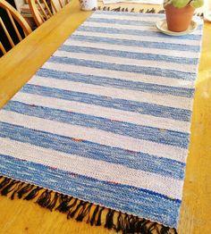 Handwoven Finnish Karelian poppana rustic blue by Helidonstitch